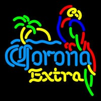Corona Extra Parrot With Palm Neon Beer Sign 16x16