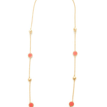 Marc by Marc Jacobs Jewelry Women's Long Medley Station Necklace - Red
