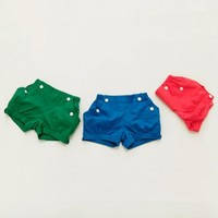 Vintage Inspired Shorts for Little girls Blue Red