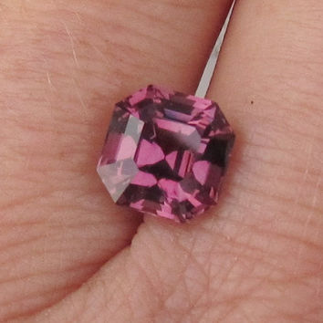 Asscher Cut Raspberry Color Spinel Fine Loose Gemstone for Engagement Ring Anniversary Ring or 14k Gold Ring