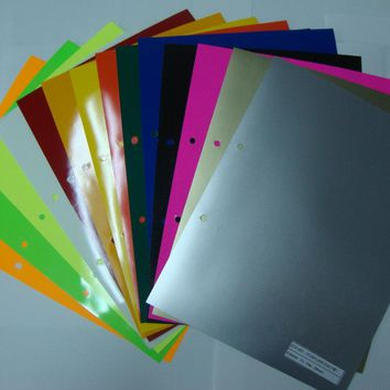 (A4*28pcs) 14 different Color each color is 2 pcs PU Flex Vinyl Paper PU Heat Transfer iron on Vinyl Cuttable PU Film for Tshirt