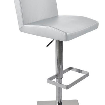 Modrest T-1068CN Modern White Eco-Leather Bar Stool