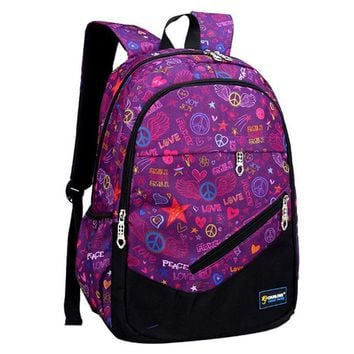 Boys Backpack Bag RUIPAI Casual Pack Children package Nylon School Bag  Alleviate Burdens Graffiti Lady Package For Teenage Girls And Boys AT_61_4