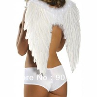 FREE SHIPPING white  Dark Fallen Angel Wings Large Fancy Dress Costume Outfit