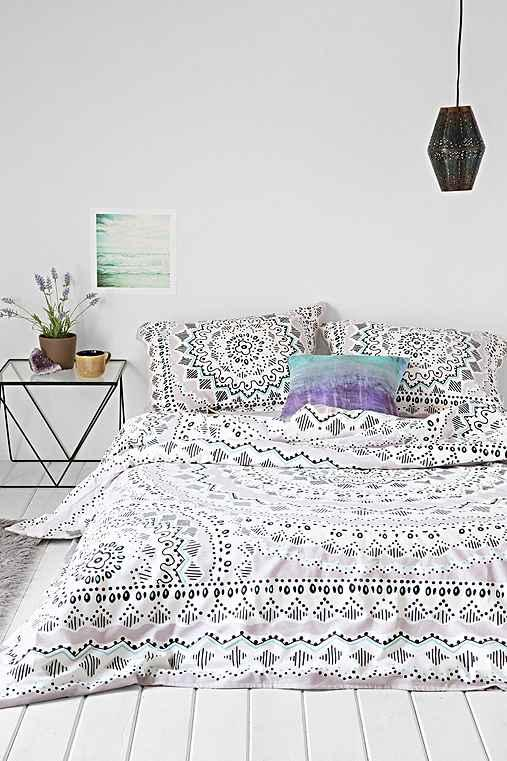 Plum Amp Bow Mia Medallion Duvet Cover From Urban Outfitters