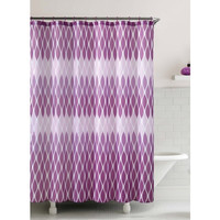 "Jansen Purple Embossed Microfiber Shower Curtain- 72""X 72"""