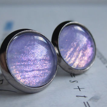 Neutron - Earring studs - science jewelry - science earrings - galaxy jewelry - physics earrings - fake plugs - plug earring - nebula stud