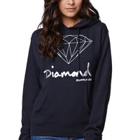 Womens Diamond Supply Co Sweatshirts & Hoodies - Diamond Supply Co OG Script Pullover Hoodie - Default
