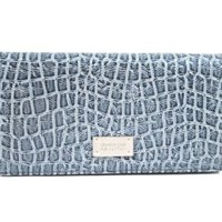 Kenneth Cole Reaction Flattered Moc Croc Checkbook Wallet in Choice of Colors