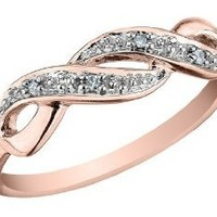 Infinity Diamond Promise Ring in 10K Gold: Jewelry: Amazon.com