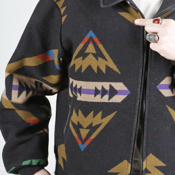 Pendleton Navajo Wool Coat Southwestern Design