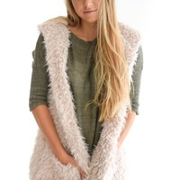 Piper Faux Shearling Vest