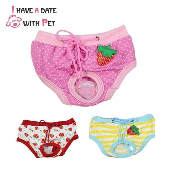 Dog Panties Female Physiological Menstruation Hygiene Pants Pink Blue Red  Cat Puppy Bitches Clothes Breeches Pet grooming