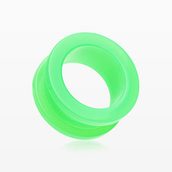 A Pair of Neon Colored UV Acrylic Screw-Fit Ear Gauge Tunnel Plug