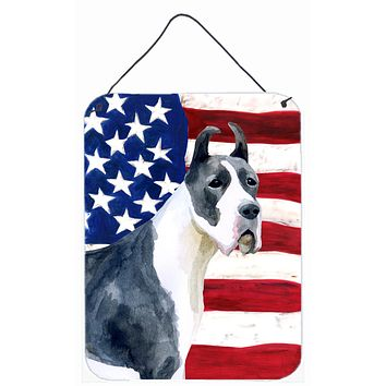 Harlequin Great Dane Patriotic Wall or Door Hanging Prints BB9643DS1216