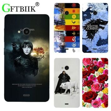 For Game Of Thrones 7 Case For Nokia Microsoft Lumia 535 Cover Soft Silicone Printed Phone Back Shell Football Case Housing