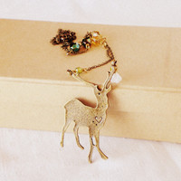 The Call Of The Wild, Necklace - 'Treasures' Collection, Deer Necklace Woodland, Vintage S | Luulla