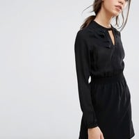 Vero Moda Shirred Waist Mini Dress at asos.com