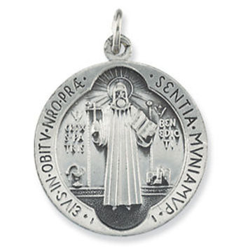 Sterling Silver 18.5mm St. Benedict Medal
