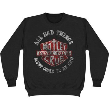 Motley Crue Men's  Bad Boys Shield Sweatshirt Sweatshirt Black Rockabilia
