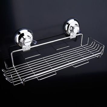 Basket Storage Rack Space stainless steel  Basket Shelf Wall Mounted Single Tier Bathroom Kitchen Rack