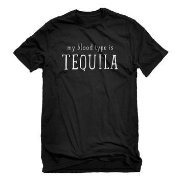 Mens My Blood Type is Tequila Unisex T-shirt