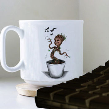 I AM GROOT mug heppy mug coffee, mug tea, size 8,2 x 9,5 cm.