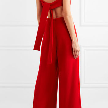Emilia Wickstead - Ethel wool-crepe jumpsuit