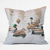Lisa Argyropoulos Ducks Throw Pillow