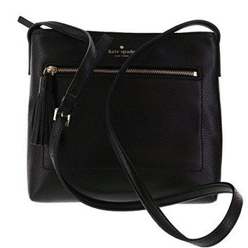 Kate Spade New York Chester Street Dessi Pebbled Leather Shoulder / Crossbody Bag (Black)