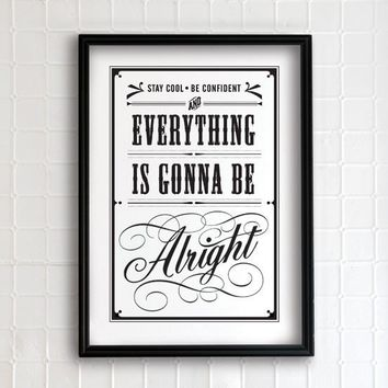 Everything is gonna be alright 13x19  vintage by evajuliet on Etsy
