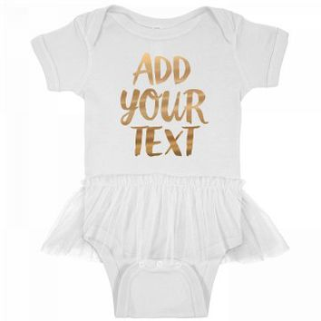 Custom Metallic Design For Baby