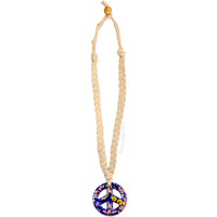 Braided Glass Peace Necklace on Sale for $9.99 at HippieShop.com