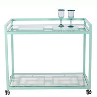 Turquoise Palm Beach Bar Cart