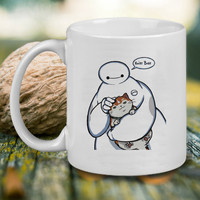 Hairy Baby Cat and Baymax Mug, Tea Mug, Coffee Mug