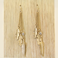 Gold Nuka Drop Earrings