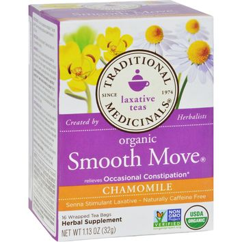 Traditional Medicinals Organic Smooth Tea - Senna Chamomile - 16 Bags