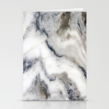 Marble Stone Texture Stationery Cards by Smyrna