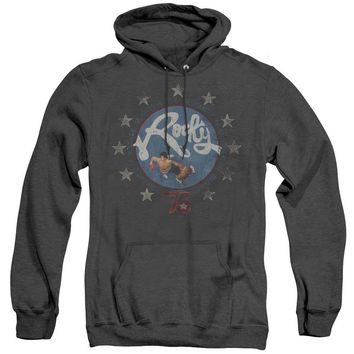 Rocky Heather Hoodie Balboa and Creed in the Ring Black Hoody