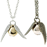 Harry Potter Golden Snitch Pendant Necklace Cosplay