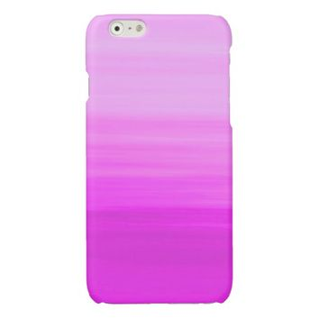 Soft shades of purple in horizontal stripes glossy iPhone 6 case