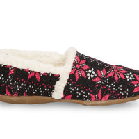 TOMS Flake Knit Youth Slippers Pink