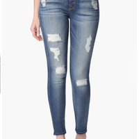 THE ANKLE SKINNY JEANS WITH DESTROY BY 7 FOR ALL MANKIND