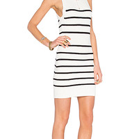 Shadow Play Dress in Black Stripe