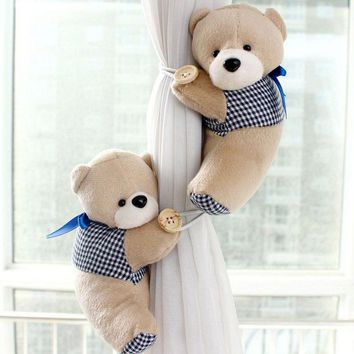 Toy Bear Curtain Tieback Clamp