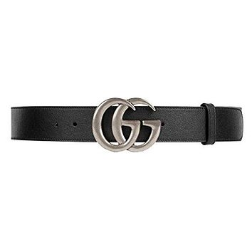 GUCCI - Leather Belt for Men DOUBLE G (397660APOON1000)