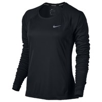 Nike Dri-FIT Miler Long Sleeve T-Shirt - Women's at Foot Locker