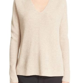 Vince Double V Ribbed Wool & Cashmere Sweater | Nordstrom