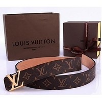 2017 LOUIS VUITTON GENUINE LEATHER BELT