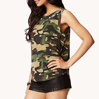 Bejeweled Camo Muscle Tee